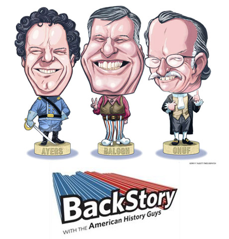 BackStory with the American History Guys bobbleheads.