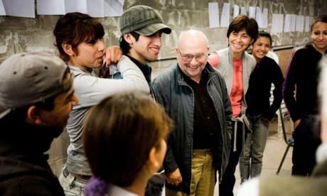 Earl Shorris, founder of the Clemente Course, meets with students and faculty from the University of San Andres in Buenos Aires, Argentina, 2010. Shorris passed away in 2012; Warren will speak about his legacy at the March 18 event.