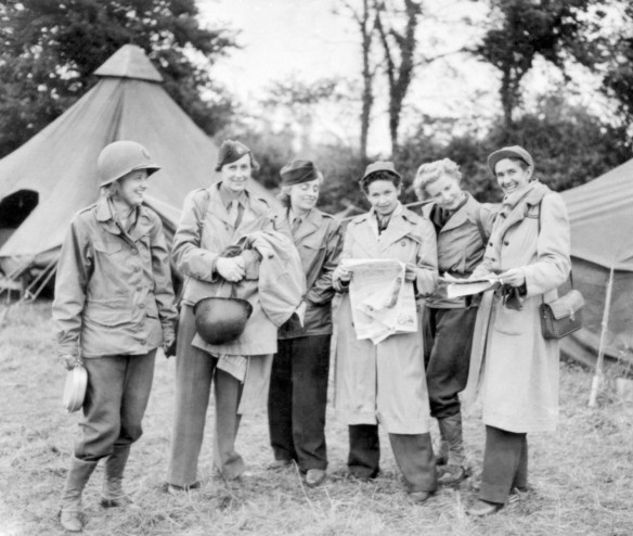 Female war correspondents during World War II.