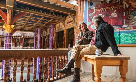 Jeremy Irons talks shop at the Globe with Dominic Dromgoole.