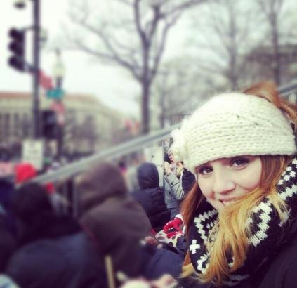 Eleesha at the U.S. Presidential Inaugural Parade this past January.