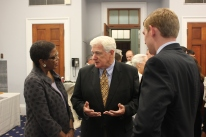 Carole Watson, Representative Jim Moran, and Jesse Reisling at the event.