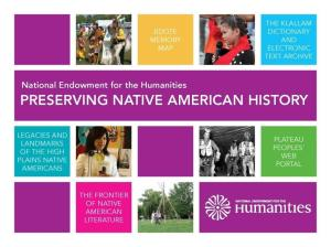 Cover of the report recently released by the NEH describing the agency's impact on Native American communities.
