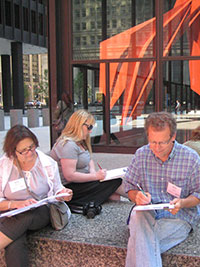 Teachers attending the Chicago Architecture Foundation Landmarks of American History workshop.